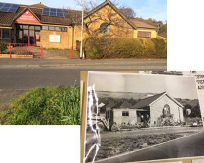 Folkestone Baptist Church (today and 60 years ago)