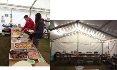 Soul Survivor 2014 - but the lovely food makes up for the weather