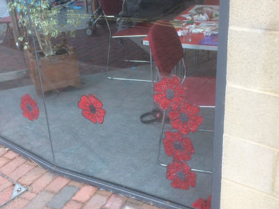 MAD 2017 Godalming 2017 poppies in church window