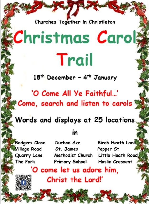 Christmas Carol Trail Poster