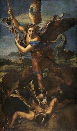 The Victory of Saint Michael as painted by Raffaello Sanzio (Raphael)