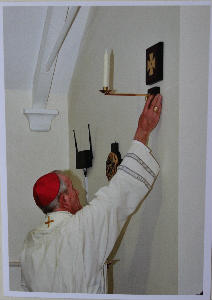 Archbishop Peter Blessed the Dedication Crosses