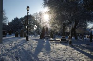 St Michael's Churchyard in Winter Snow