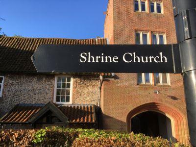 Shrine Church Sign