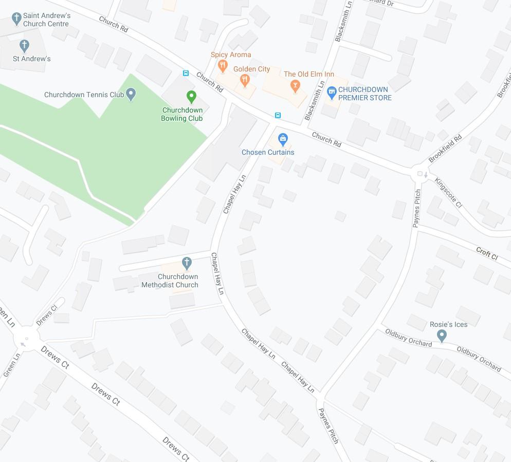 Map - Churchdown Methodist Church