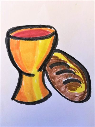 cup and bread
