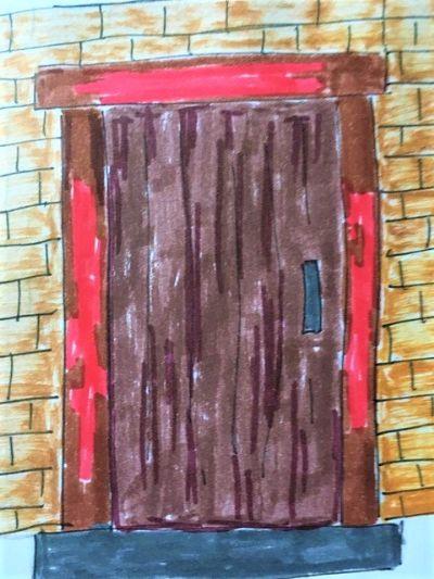 blood door frame