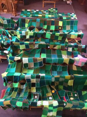 Christmas tree squares