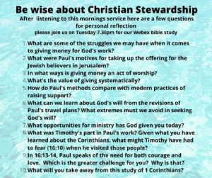Be wise about christian stewardship