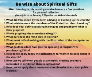 be wise about spiritual gifts