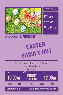 Easter Family Hut Poster