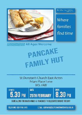 Pancake Family Hut Poster