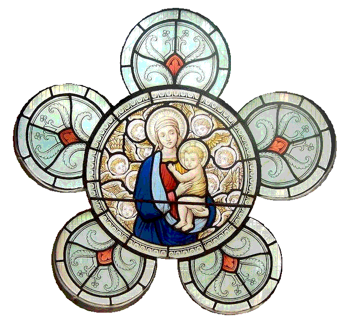 Window from St Dunstans with Mary and Jesus