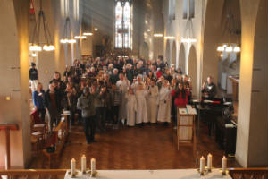 Congregation with Candles