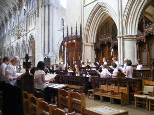 Choir at Suthwark Cathedral
