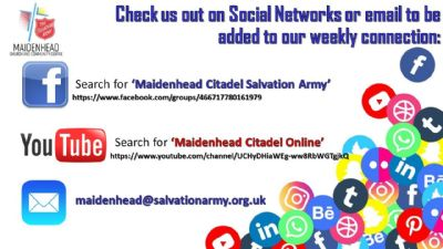 Online details - Facebook, YouTube and email