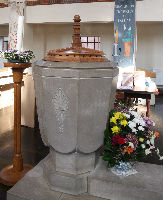 The font, which we use for baptisms