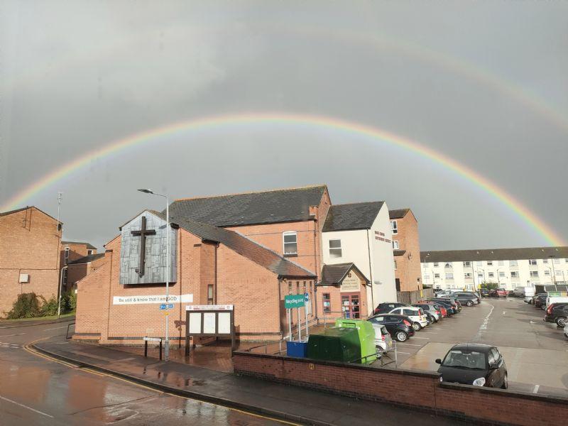 Sage Cross Rainbow