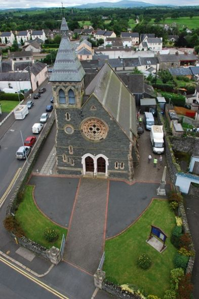 Aerial photograph of chirch