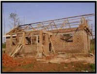 No roof building in Uganda