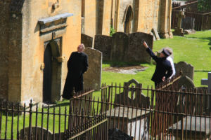 Father Brown seeking inspiration from above?