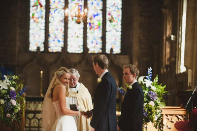 A village wedding in Blockley church