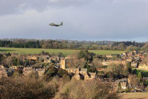 Aerial salute to Richard Bates