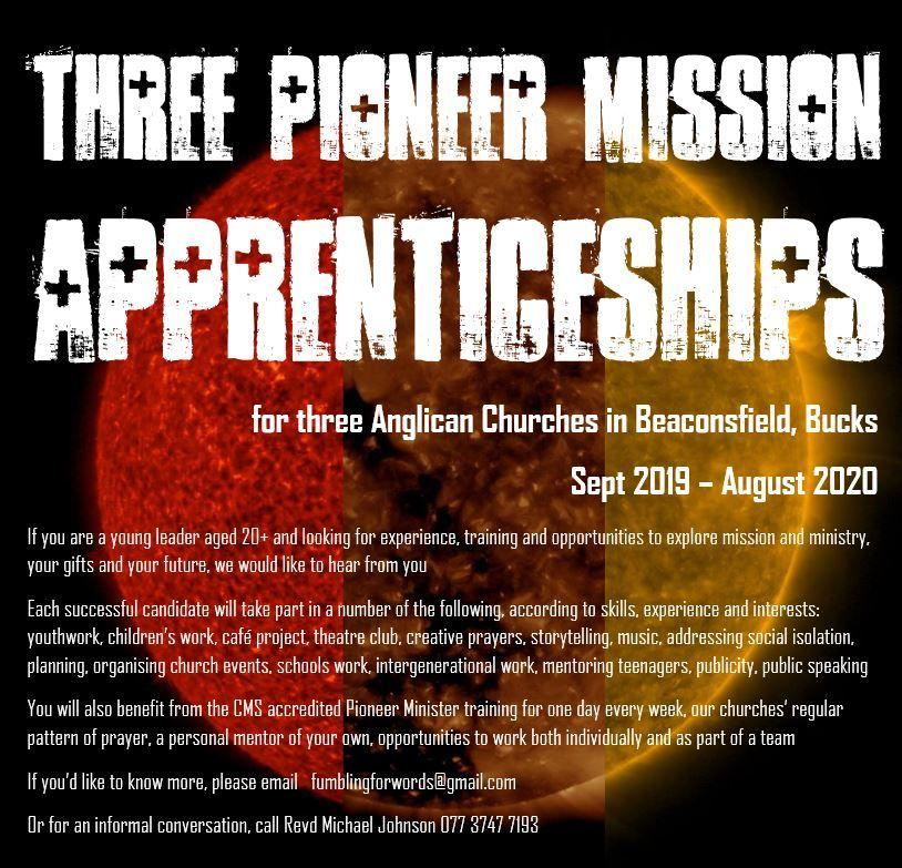 Pioneer Mission Apprenticeships