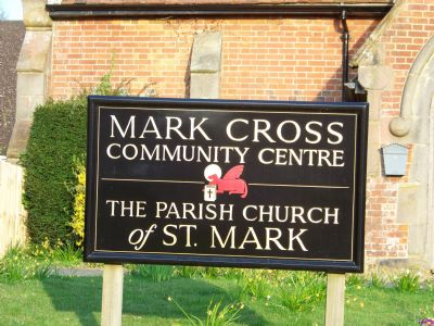 Mark Cross sign