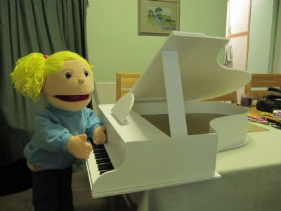 Tizzy playing the piano