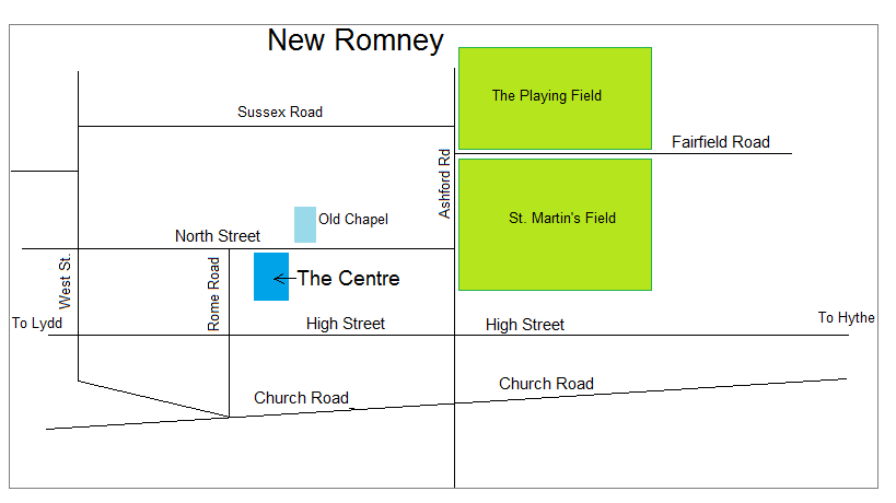 Map of New Romney