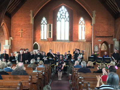We were delighted to have the Richmond Brass Band hold their concert at TGBC