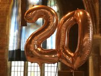 20th Anniversary balloons