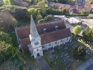 Aerial view of church 2