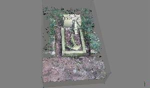 2D view of 3D image of grave
