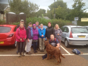 Walking group start from Godshill