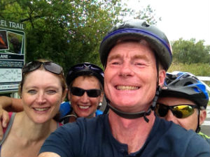 Cyclists selfie