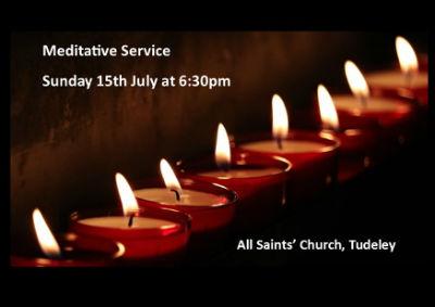 Meditative Service Sunday 15th July 6:30pm