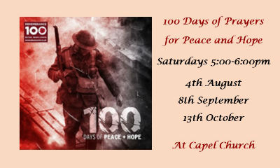 Details of services for 100 days of prayer for Peace  Hope