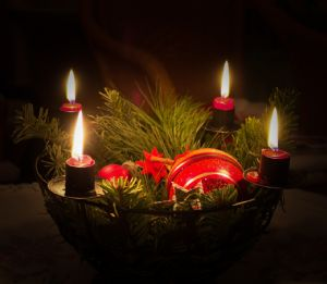Advent candle wreath