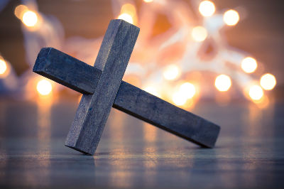Cross with lights