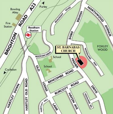 St Barnabas map