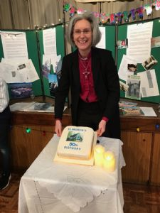 Bishop Jo with Cake