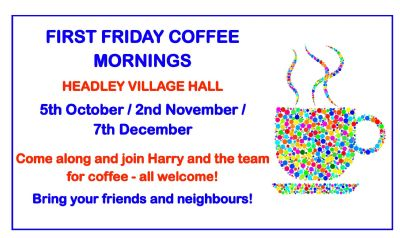 First Friday Coffee Mornings
