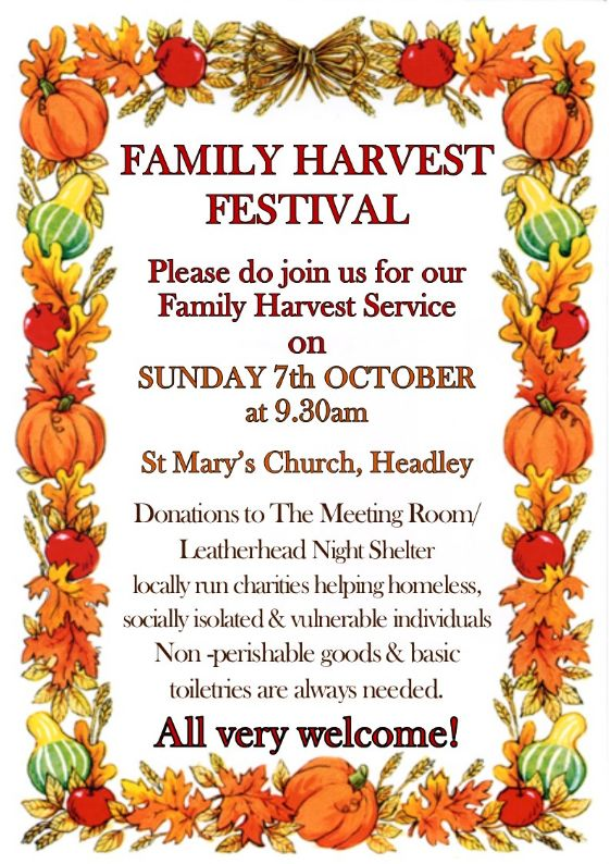 Harvest St Marys