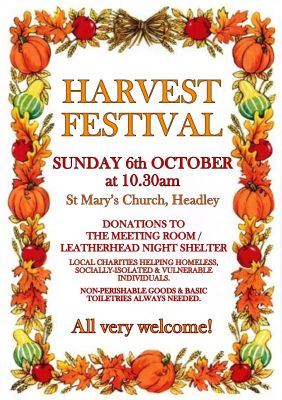 Harvest St Mary's