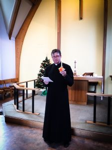 Christopher with Christingle