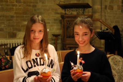 Candles lit 1