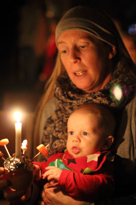 Christingle Mother and Baby