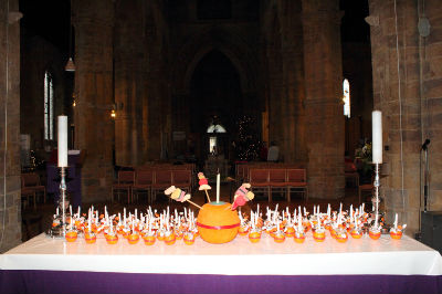 Christingles on Altar